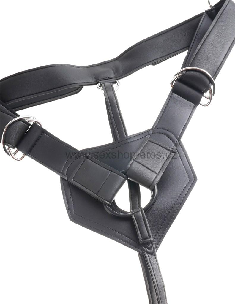 "Pipedream King Cock Strap-on Harness w/9"" Cock flesh"