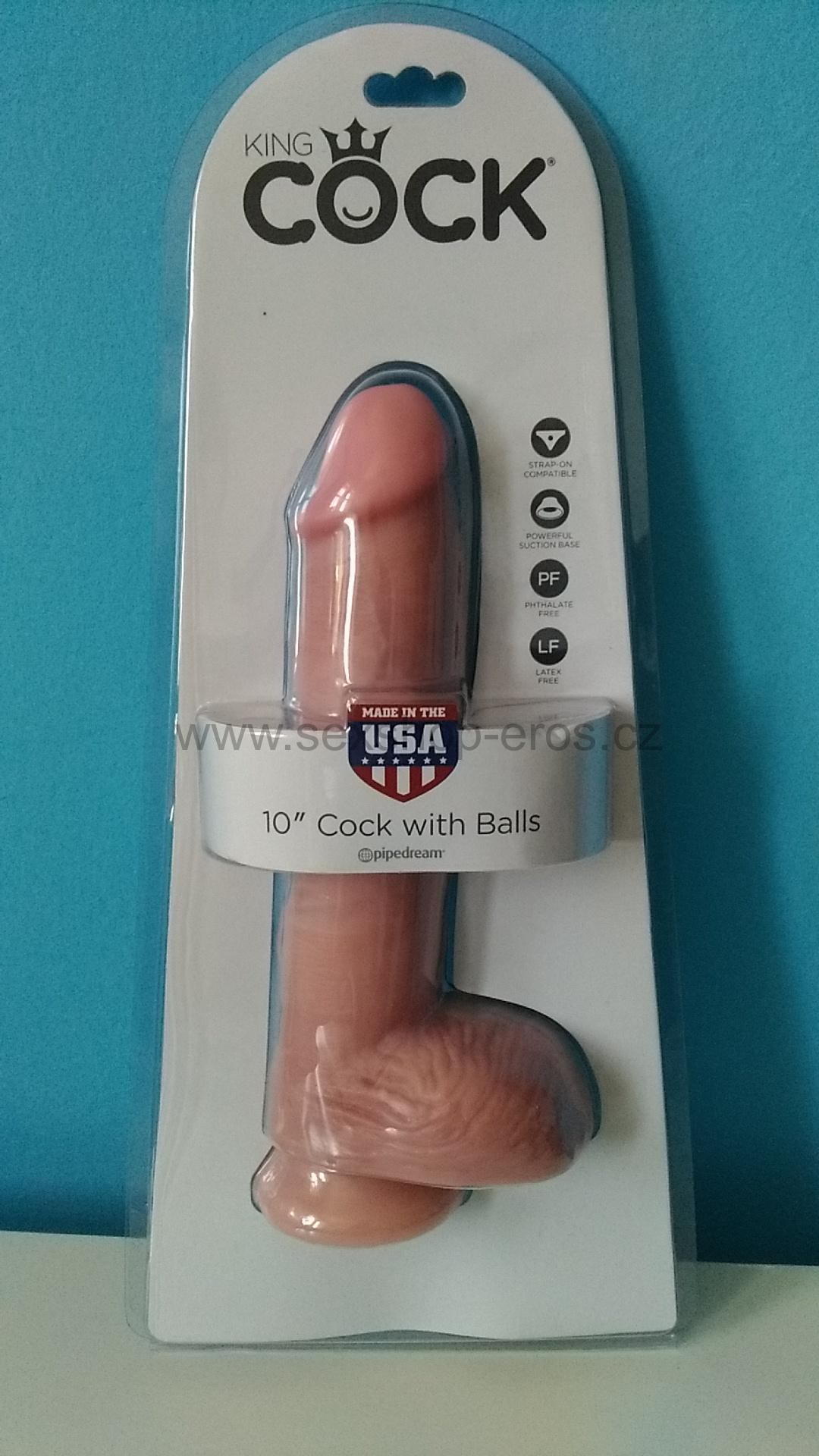 Pipedream King Cock 10″ Cock with Balls dildo s přísavkou 25,4 x 5.1 cm