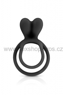 Glamy Double Cockring Black